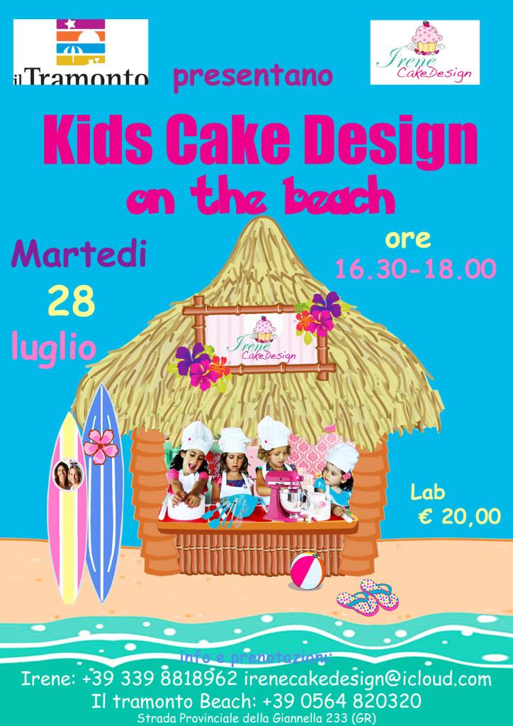 Kids Cake Design Lab on the beach